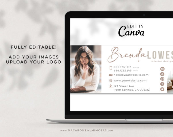 Pretty Email Signature Template