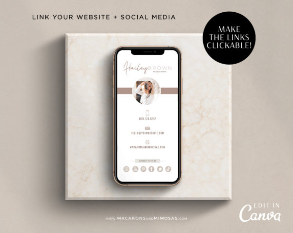 Photographer Canva Business Card, Canva Digital Business Card Template, Modern Business Card for Realtor, Real Estate Business Card Template