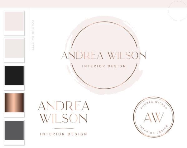 Logos & Branding package Branding kit Logo design Photography Logo Rose gold Logo - Logo package Photo Watermark Real estate logo