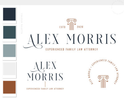 Lawyer Logo Design, Scales of Justice Logo for Law Firm, Legal Office Logo Images and Emblem, Judge Logo and Attorney Office Logo Icon