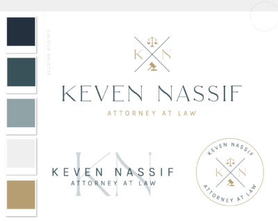 Law Firm Logo Design, Legal Office Logo Icon Emblem, Judge Logo and Attorney Gavel Logo Icon, Scales of Justice Logo for Lawyer
