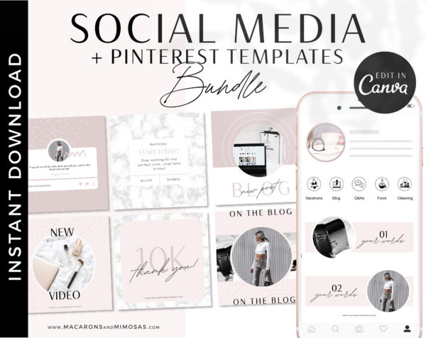 Pinterest Templates for Canva, Instagram engagement story posts for Canva, How to boost your engagement on instagram