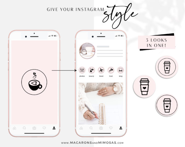 Pink and Black Instagram Highlights to style your Instagram Stories covers, 200 Story Highlight Covers, Icons for Fashion and Beauty