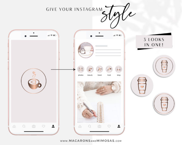 Purple and Gold Instagram Highlights to style your Instagram Stories covers, 200 Story Highlight Covers, Icons for Fashion and Beauty