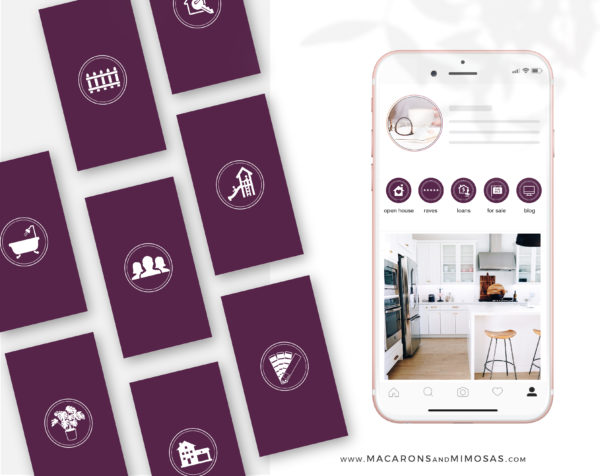 100 Real Estate Instagram Highlights, Berkshire Hathaway Home Services Instagram Icons, Story Highlight Icons, social media icons
