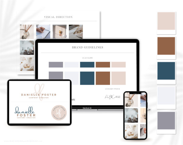 Modern Elegant is an EditableSemi-Custom Brand Kit that includes Modern Business Card Design, Logo, Typography suggestions Curated Stock Photos, and more!