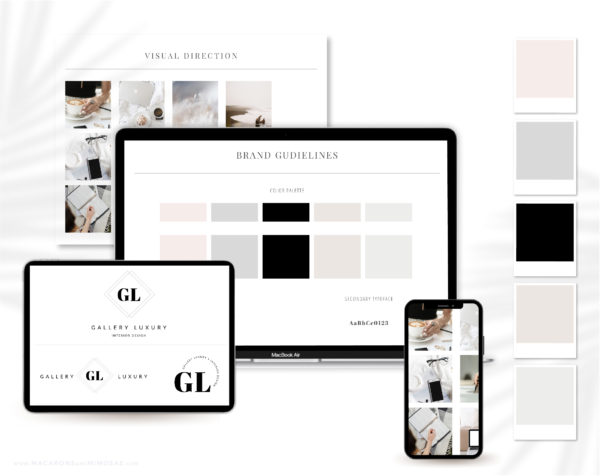 Modern Elegant is an EditableSemi-Custom Brand Kit that includes one Main Logo, a Secondary Logo, Typography suggestions Curated Stock Photos, and more!