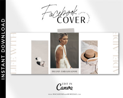 Facebook banner template fully editable in Canva. Facebook covers are easy to edit for Influensters, bloggers, Photographers, and more...
